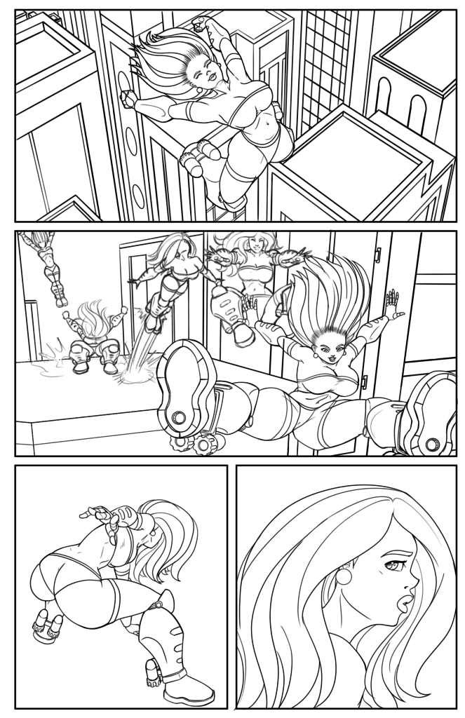 Page 1 - Line art
